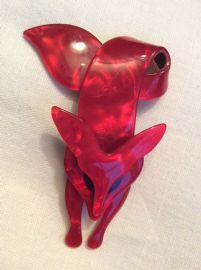 Red Fox Pin By Lea Stein of Paris - Fox Pin - Designer Brooch (SOLD)